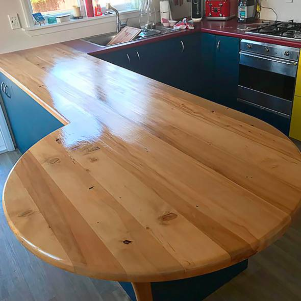 Stained Benchtop in Wellington