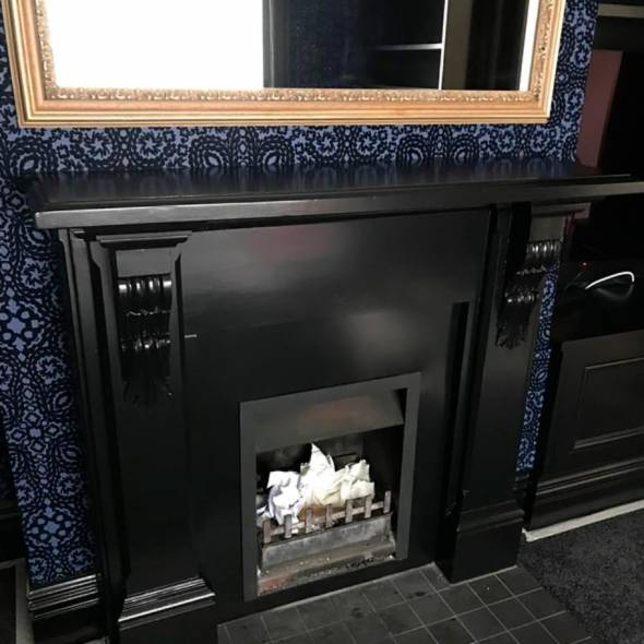 Painting around Fireplace in Wellington